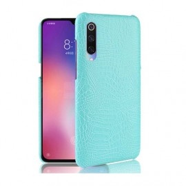 Coque Xiaomi MI 9 SE Croco Cuir Turquoise