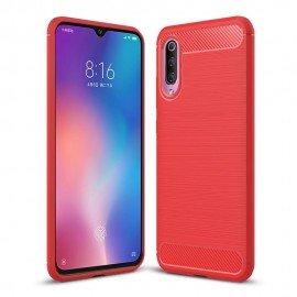 Coque Silicone Xiaomi MI 9 SE Brossé Rouge