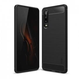 Coque Silicone Huawei P30 Brossé Noir