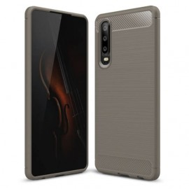 Coque Silicone Huawei P30 Brossé Gris