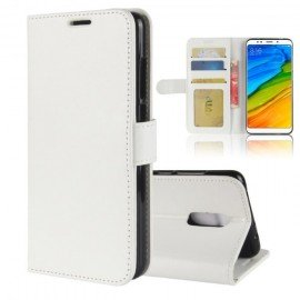 Etuis Portefeuille Xiaomi Redmi 5 Plus Simili Cuir Blanc