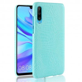 Coque Huawei P30 Croco Cuir Turquoise