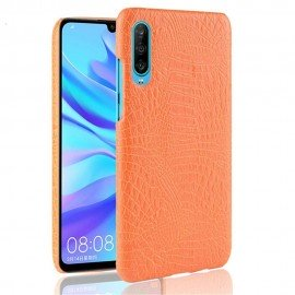 Coque Huawei P30 Croco Cuir Orange
