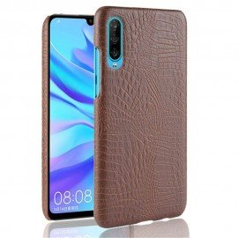 Coque Huawei P30 Croco Cuir Marron