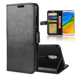Etuis Portefeuille Xiaomi Redmi 5 Plus Simili Cuir Noir