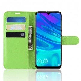 Etuis Portefeuille Huawei P30 Simili Cuir Verte