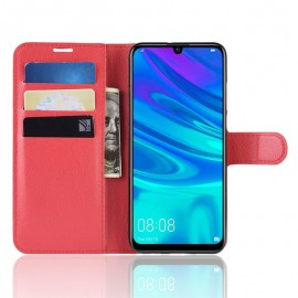 Etuis Portefeuille Huawei P30 Simili Cuir Rouge