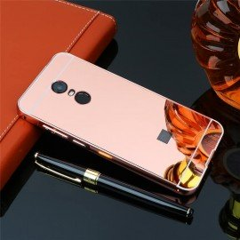 Bumper Xiaomi Redmi 5 Plus Aluminium Mirroir Or Rose