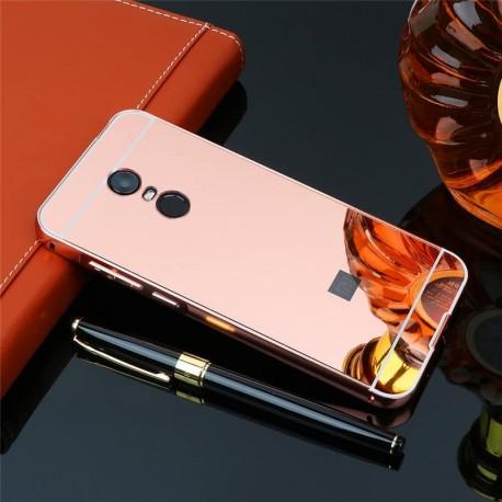 Bumper Xiaomi Redmi 5 Plus Aluminium Mirroir Or Rose