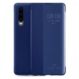 Etuis Huawei P30 Bleu Smart Cover