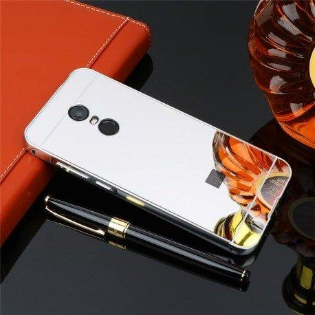 Bumper Xiaomi Redmi 5 Plus Aluminium Mirroir Gris Argent