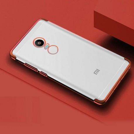 Coque Xiaomi Redmi 5 Plus Silicone Chromée Rouge