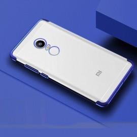 Coque Xiaomi Redmi 5 Plus Silicone Chromée Bleu