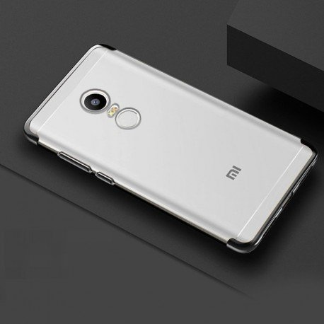 Coque Xiaomi Redmi 5 Plus Silicone Chromée Noir