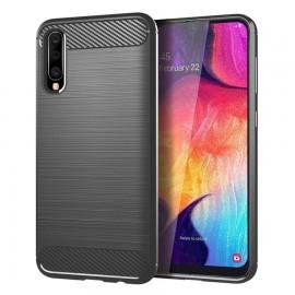 Coque Silicone Samsung Galaxy A50 Brossé Grise