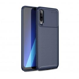 Coque Samsung Galaxy A50 Carbone TPU Bleue