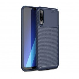 Coque Samsung Galaxy A50 Carbone TPU Bleue