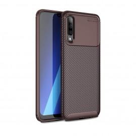 Coque Samsung Galaxy A50 Carbone TPU Marron
