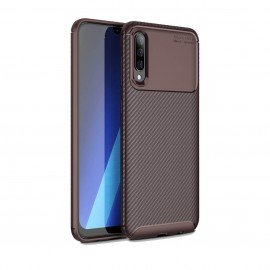 Coque Samsung Galaxy A50 Carbone TPU Marron