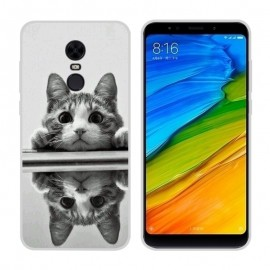 Coque Silicone Xiaomi Redmi 5 Plus Chaton