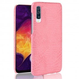 Coque Samsung Galaxy A50 Croco Cuir Rose