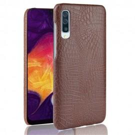 Coque Samsung Galaxy A50 Croco Cuir Marron