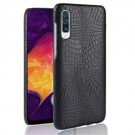 Coque Samsung Galaxy A50 Croco Cuir Noire