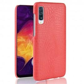 Coque Samsung Galaxy A50 Croco Cuir Rouge