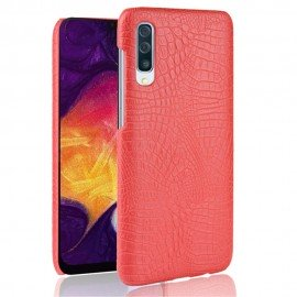 Coque Samsung Galaxy A50 Croco Cuir Rouge