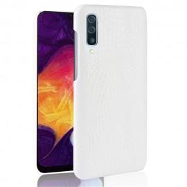 Coque Samsung Galaxy A50 Croco Cuir Blanche