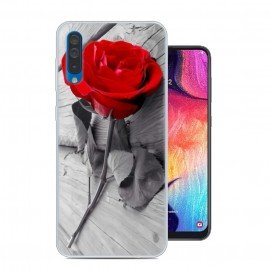 Coque Silicone Samsung Galaxy A50 Rose
