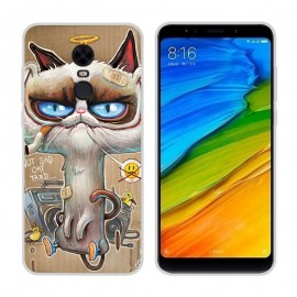 Coque Silicone Xiaomi Redmi 5 Plus Vilain Chat