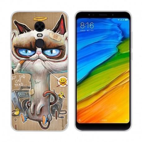 Coque Silicone Xiaomi Redmi 5 Plus Vilain Chat