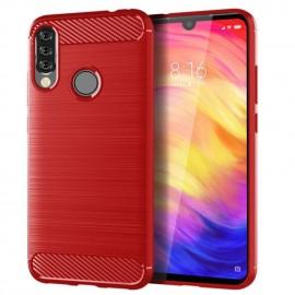 Coque Silicone Huawei P30 Lite Brossé Rouge