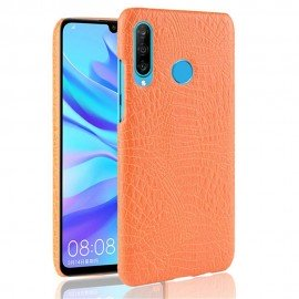 Coque Huawei P30 Lite Croco Cuir Orange