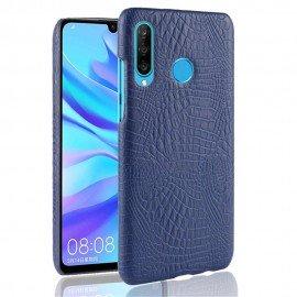 Coque Huawei P30 Lite Croco Cuir Bleue