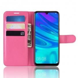 Etuis Portefeuille Huawei P30 Lite Simili Cuir Fushia