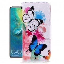 Etuis Portefeuille Huawei P30 Lite Papillon