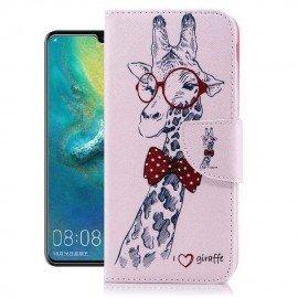 Etuis Portefeuille Huawei P30 Lite Girafe