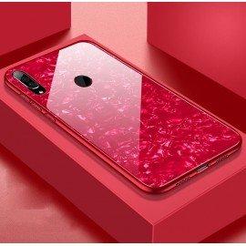 Coque Huawei P30 Lite Silicone Rouge et Verre Trempé