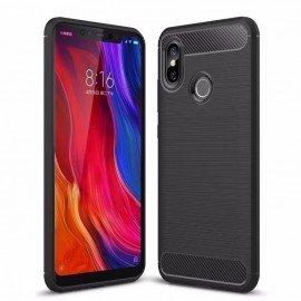 Coque Silicone Xiaomi MI 8 Brossé Noir