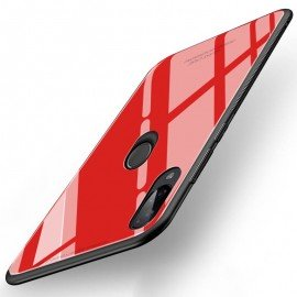 Coque Xiaomi Redmi 7 Silicone Rouge et Verre Trempé