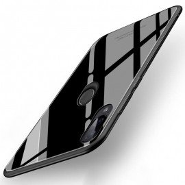 Coque Xiaomi Redmi 7 Silicone Noire et Verre Trempé