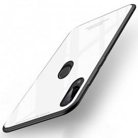 Coque Xiaomi Redmi 7 Silicone Blanche et Verre Trempé