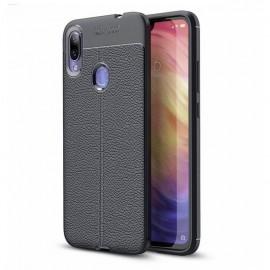Coque Silicone Xiaomi Redmi 7 Cuir 3D Noire