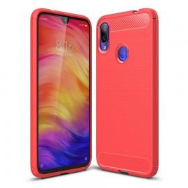 Coque Silicone Xiaomi Redmi 7 Brossé Rouge