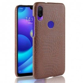 Coque Xiaomi Redmi 7 Croco Cuir Marron