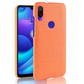 Coque Xiaomi Redmi 7 Croco Cuir Orange
