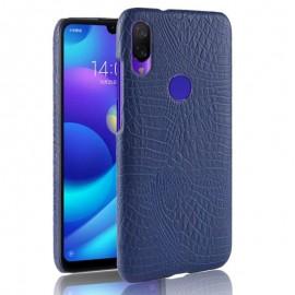 Coque Xiaomi Redmi 7 Croco Cuir Bleue Foncé