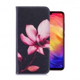 Etuis Portefeuille Xiaomi Redmi 7 Fleur